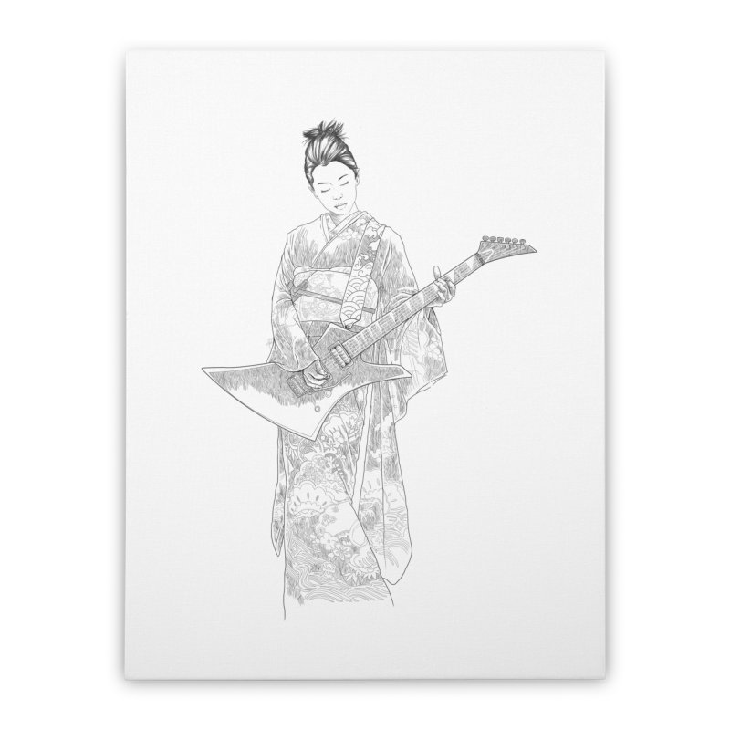 japanese rockstar Home Stretched Canvas by hd's Artist Shop