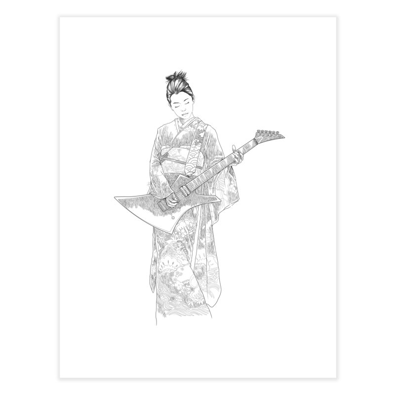 japanese rockstar Home Fine Art Print by hd's Artist Shop