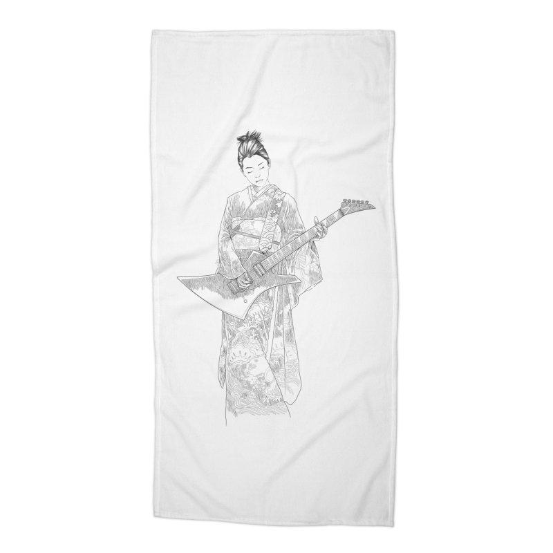 japanese rockstar Accessories Beach Towel by hd's Artist Shop