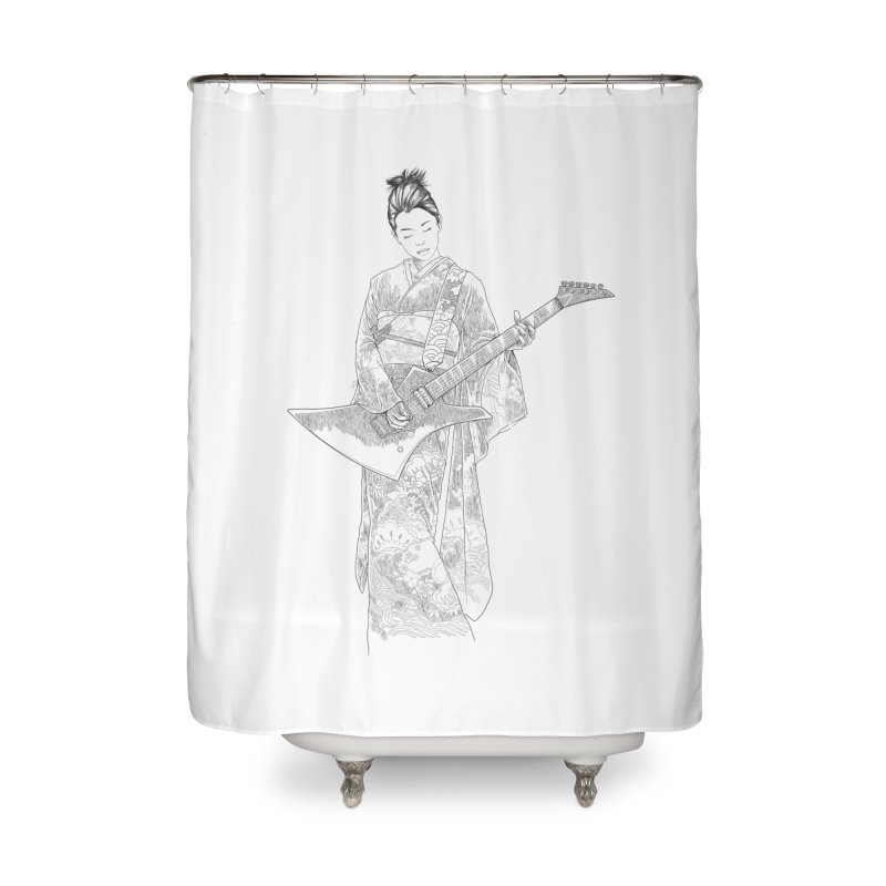japanese rockstar Home Shower Curtain by hd's Artist Shop