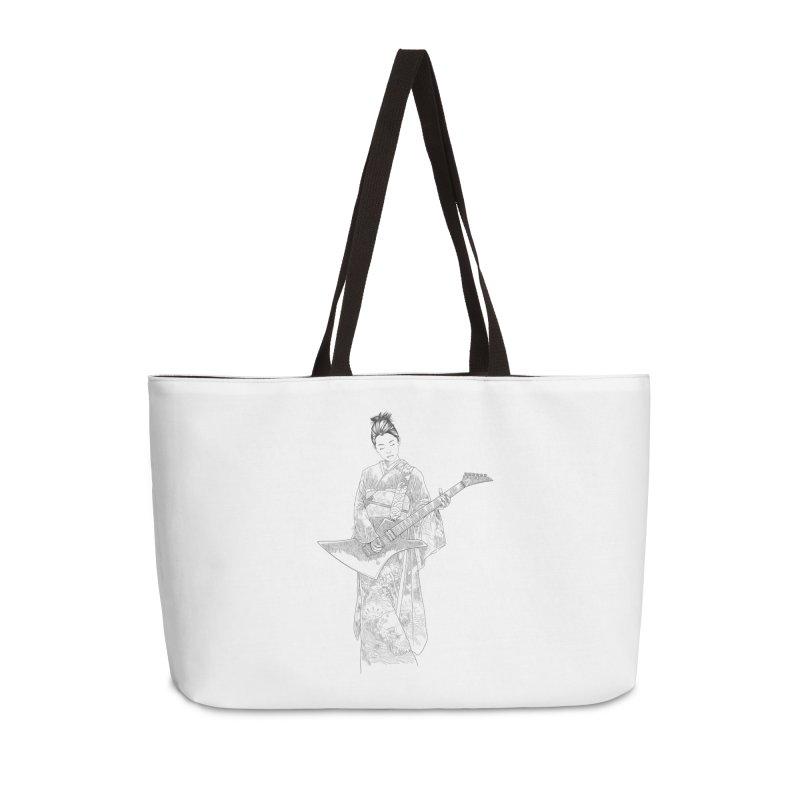 japanese rockstar Accessories Weekender Bag Bag by hd's Artist Shop