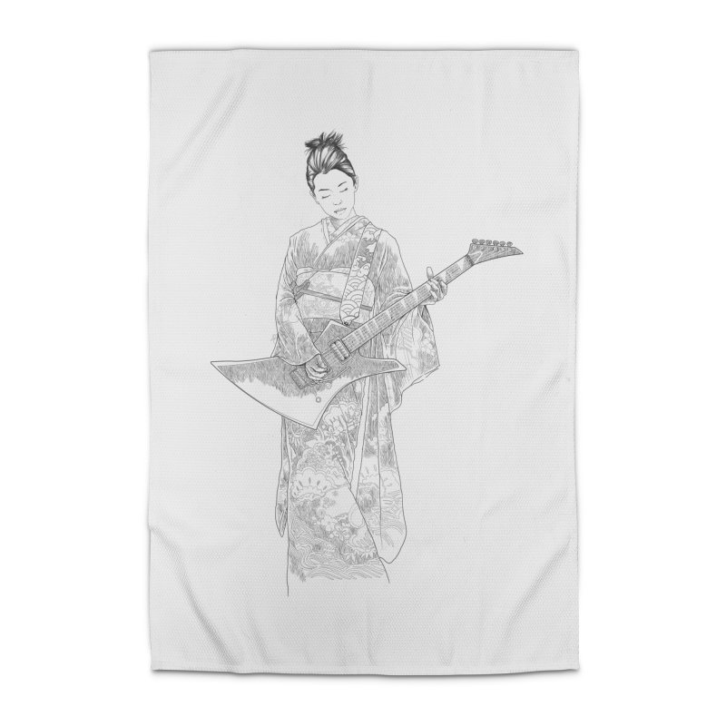 japanese rockstar Home Rug by hd's Artist Shop