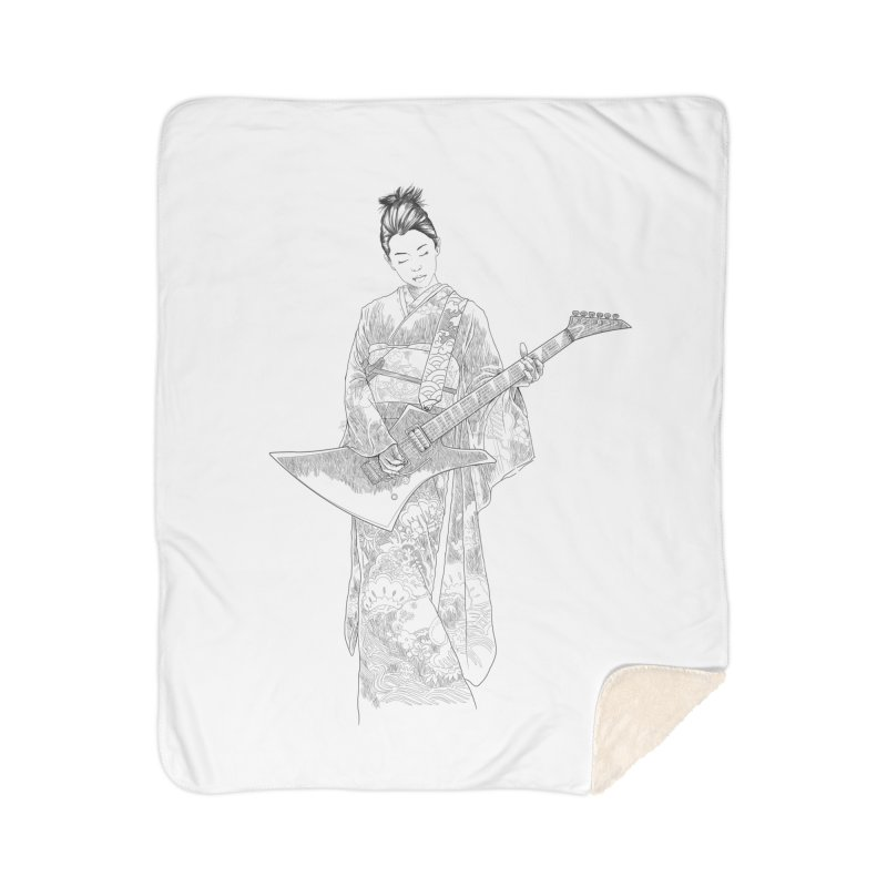 japanese rockstar Home Sherpa Blanket Blanket by hd's Artist Shop