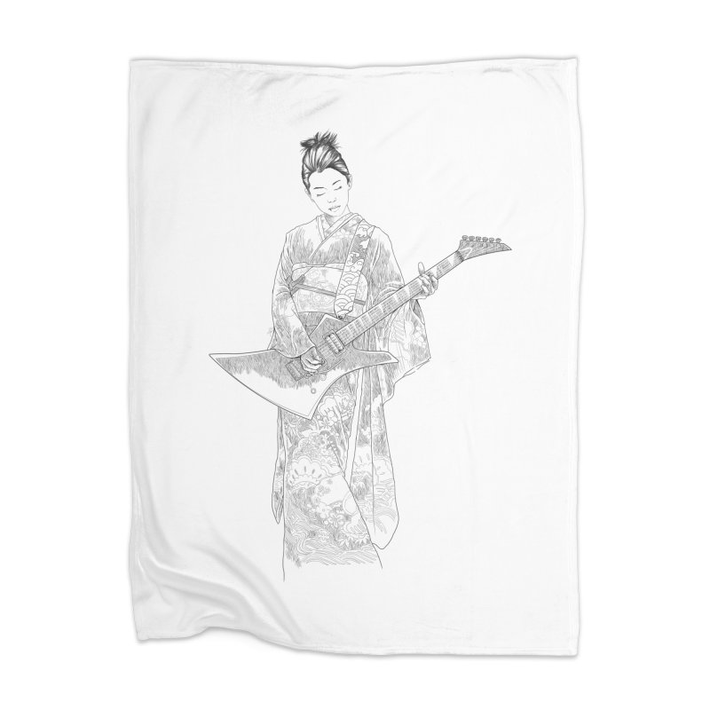 japanese rockstar Home Blanket by hd's Artist Shop