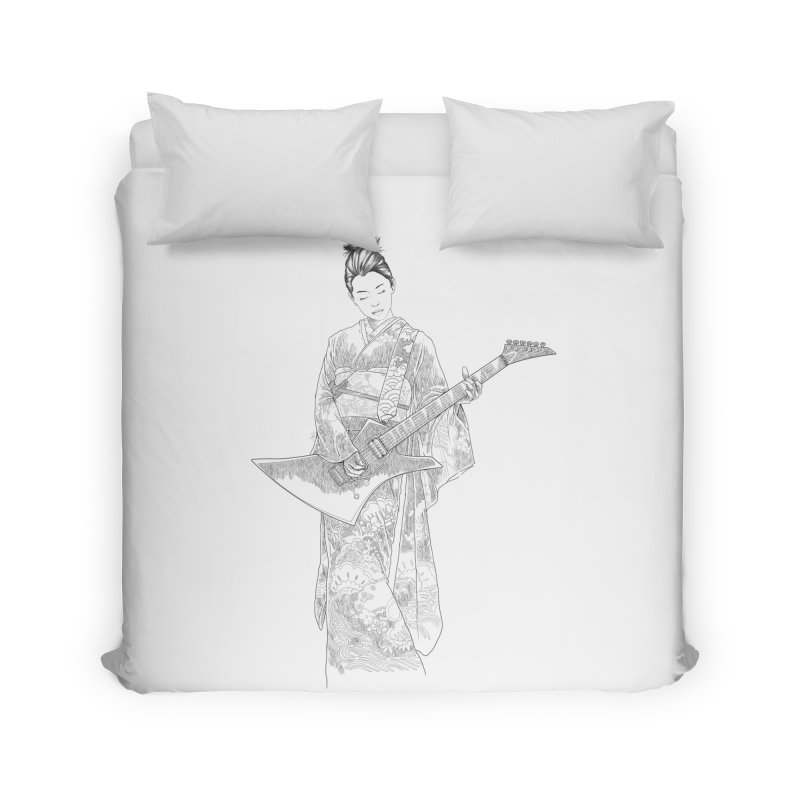 japanese rockstar Home Duvet by hd's Artist Shop