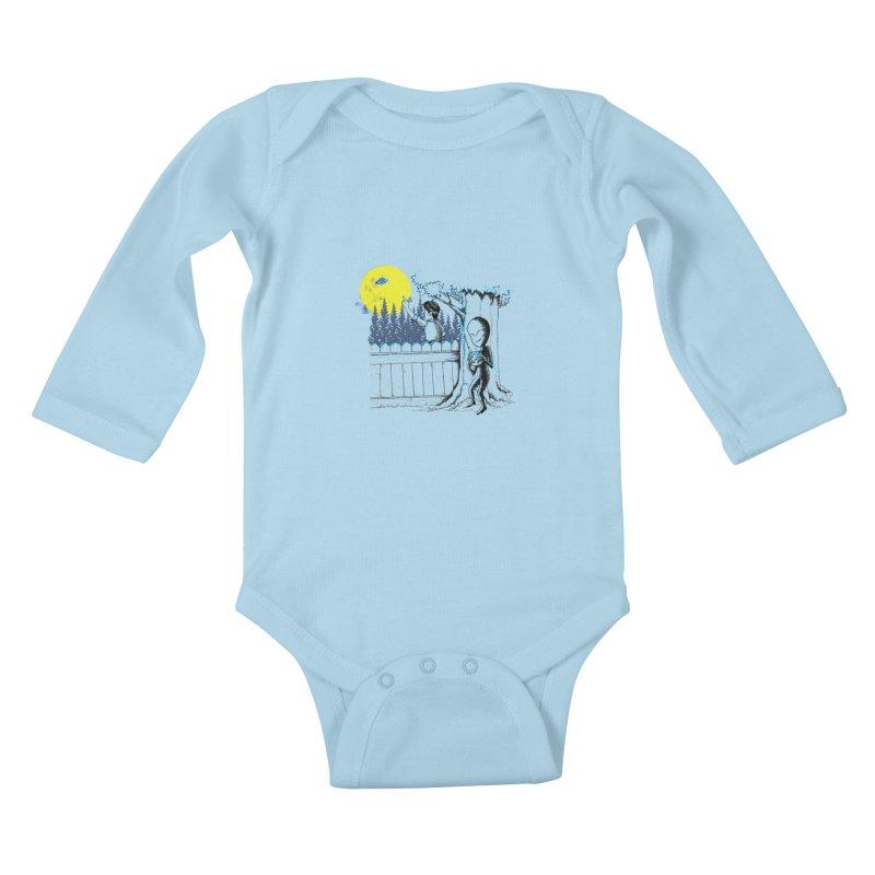 alien toy Kids Baby Longsleeve Bodysuit by hd's Artist Shop