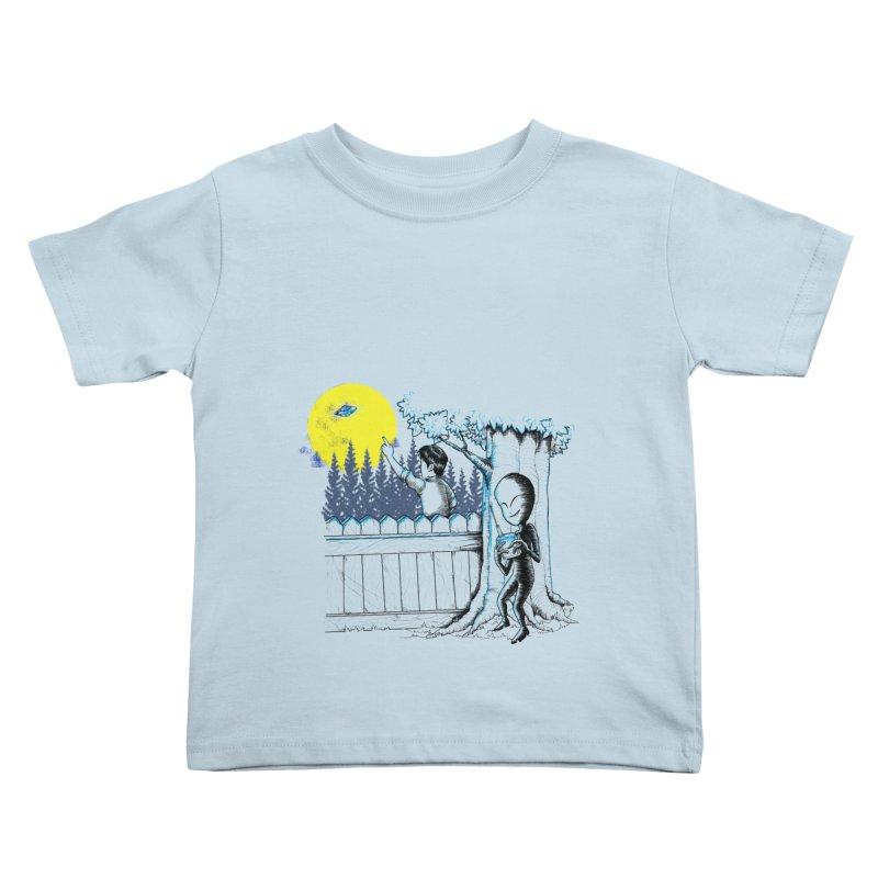 alien toy Kids Toddler T-Shirt by hd's Artist Shop