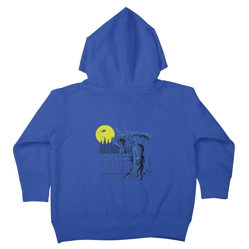 alien toy Kids Toddler Zip-Up Hoody by hd's Artist Shop