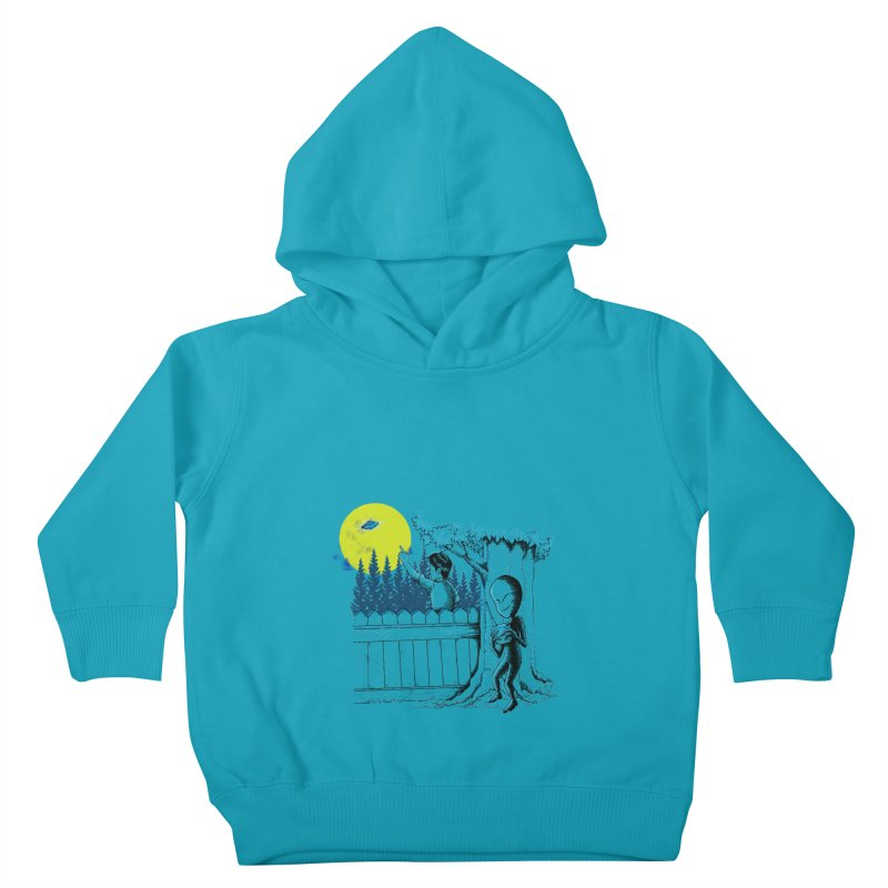 alien toy Kids Toddler Pullover Hoody by hd's Artist Shop
