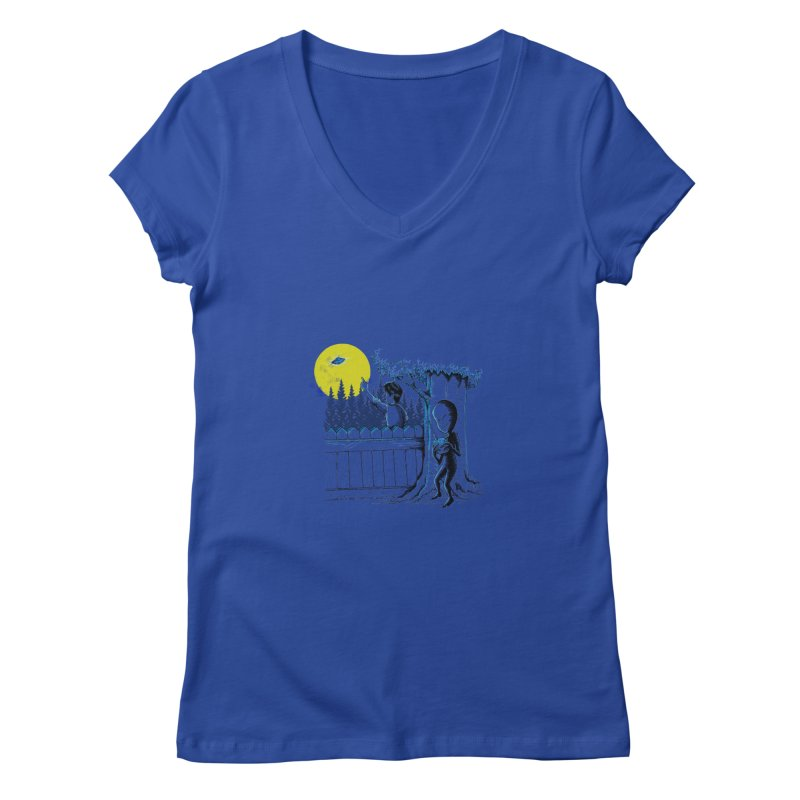 alien toy Women's V-Neck by hd's Artist Shop