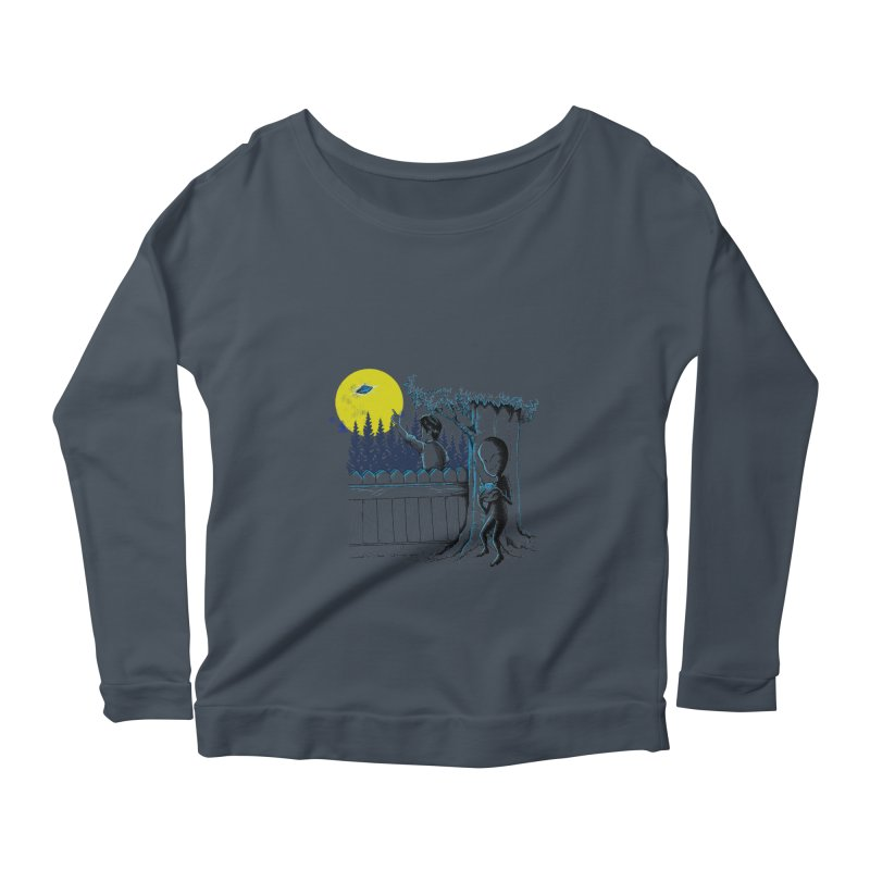 alien toy Women's Longsleeve Scoopneck  by hd's Artist Shop