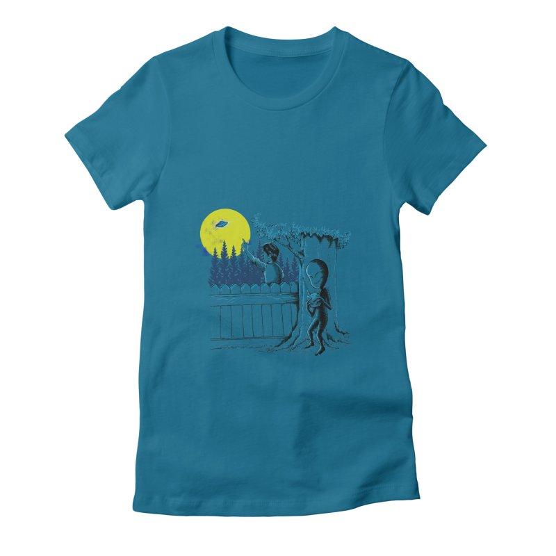 alien toy Women's Fitted T-Shirt by hd's Artist Shop