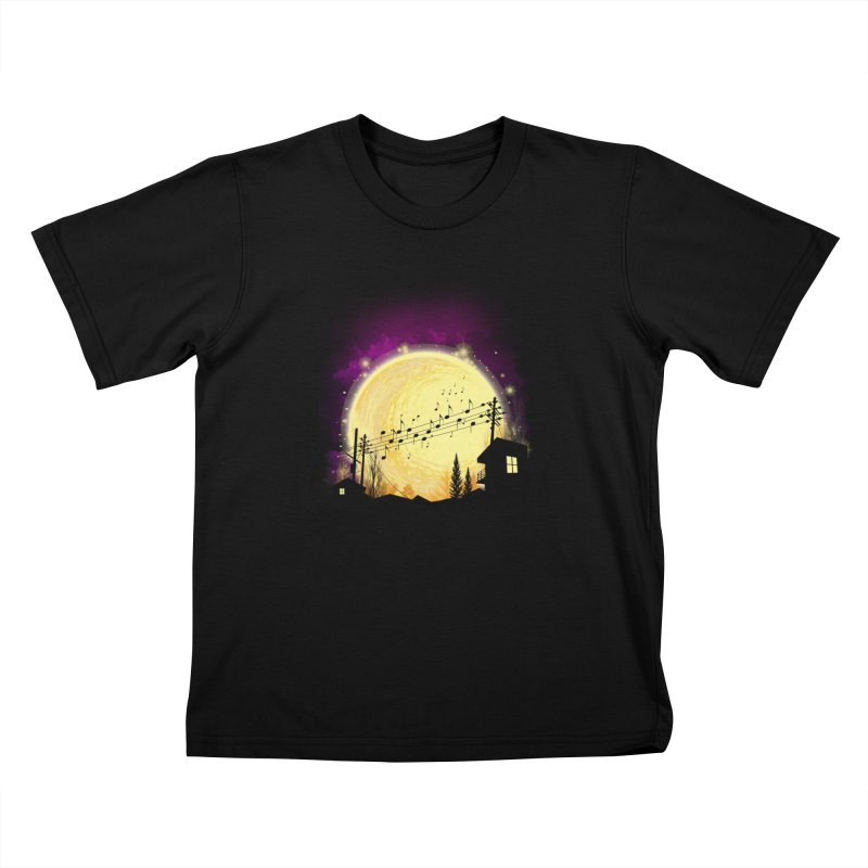 moonote Kids T-shirt by hd's Artist Shop