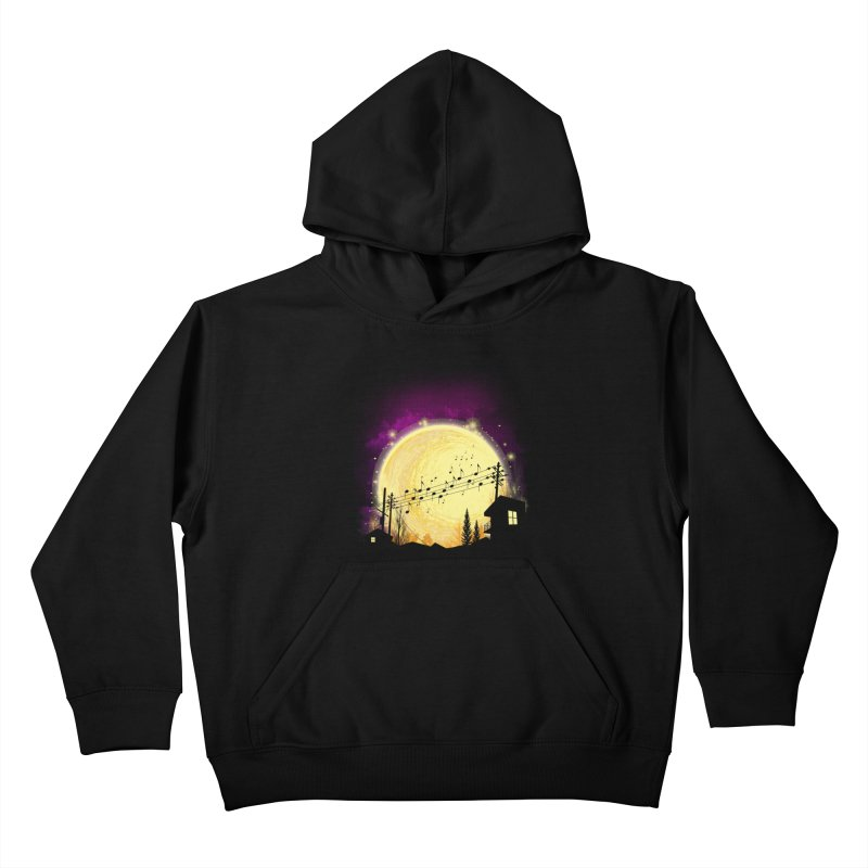 moonote Kids Pullover Hoody by hd's Artist Shop