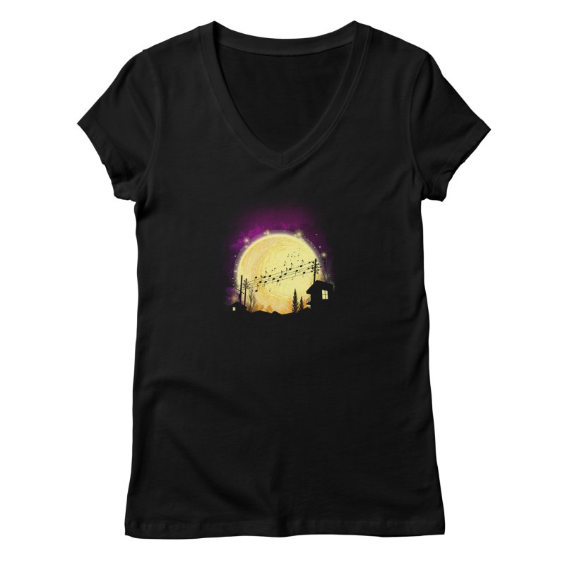 moonote Women's V-Neck by hd's Artist Shop