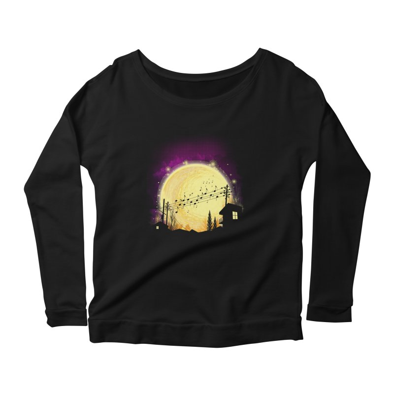 moonote Women's Longsleeve Scoopneck  by hd's Artist Shop