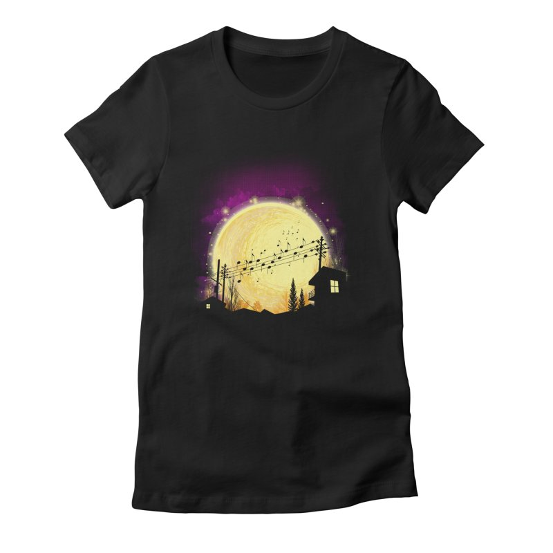 moonote Women's Fitted T-Shirt by hd's Artist Shop