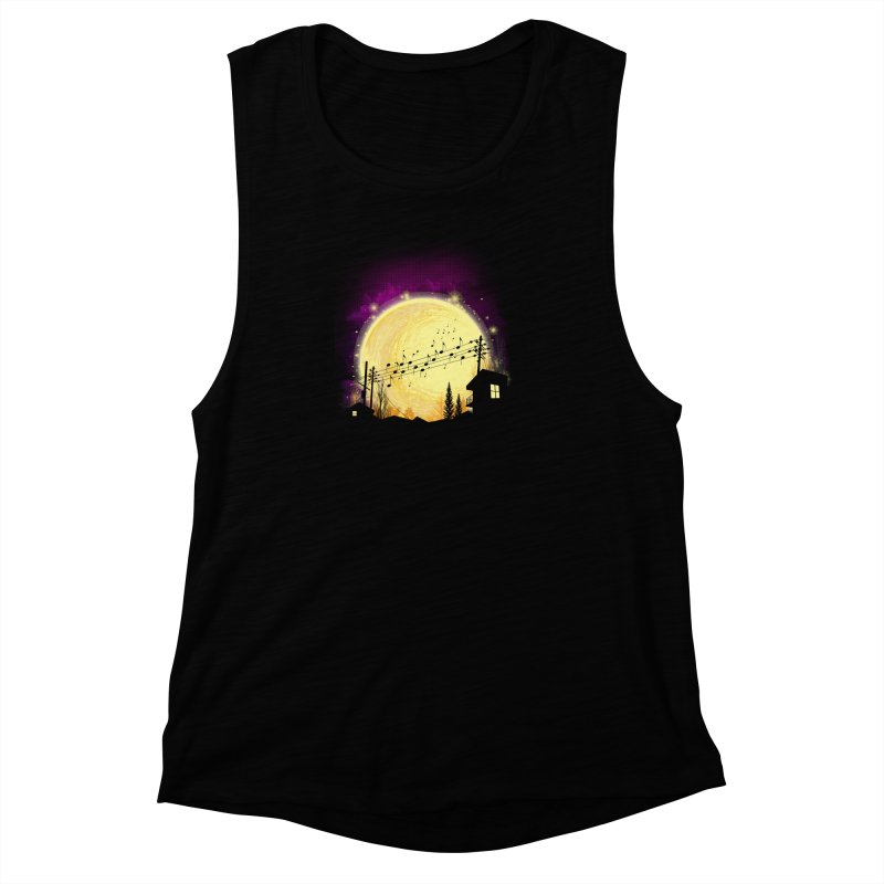 moonote Women's Muscle Tank by hd's Artist Shop