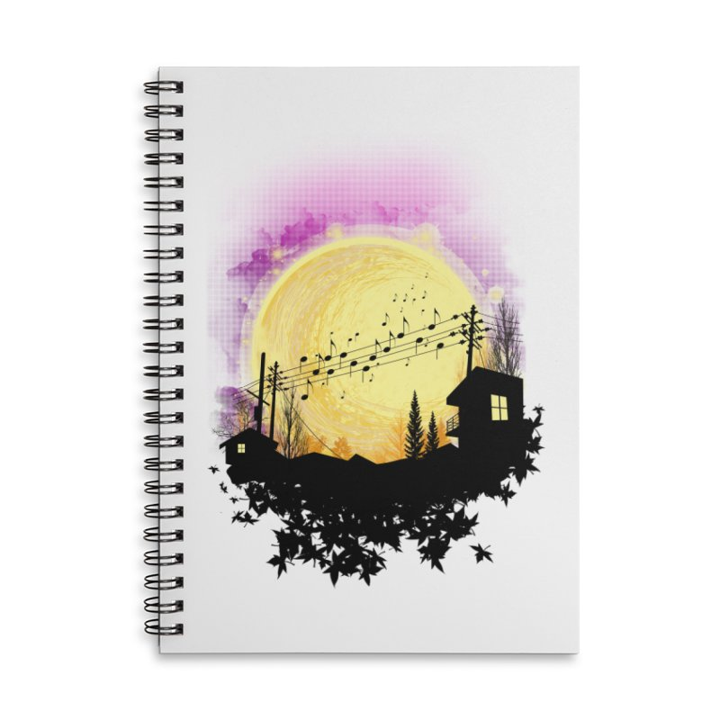moonote Accessories Lined Spiral Notebook by hd's Artist Shop