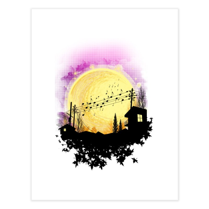 moonote Home Fine Art Print by hd's Artist Shop