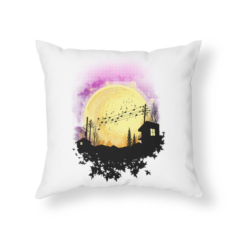 moonote Home Throw Pillow by hd's Artist Shop