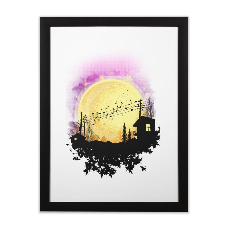 moonote Home Framed Fine Art Print by hd's Artist Shop