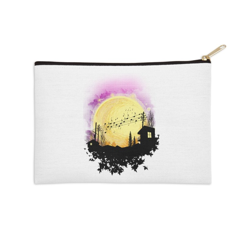 moonote Accessories Zip Pouch by hd's Artist Shop