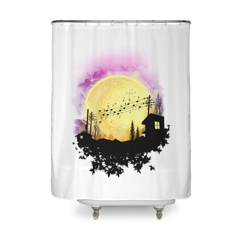 moonote Home Shower Curtain by hd's Artist Shop