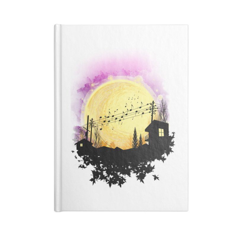 moonote Accessories Lined Journal Notebook by hd's Artist Shop