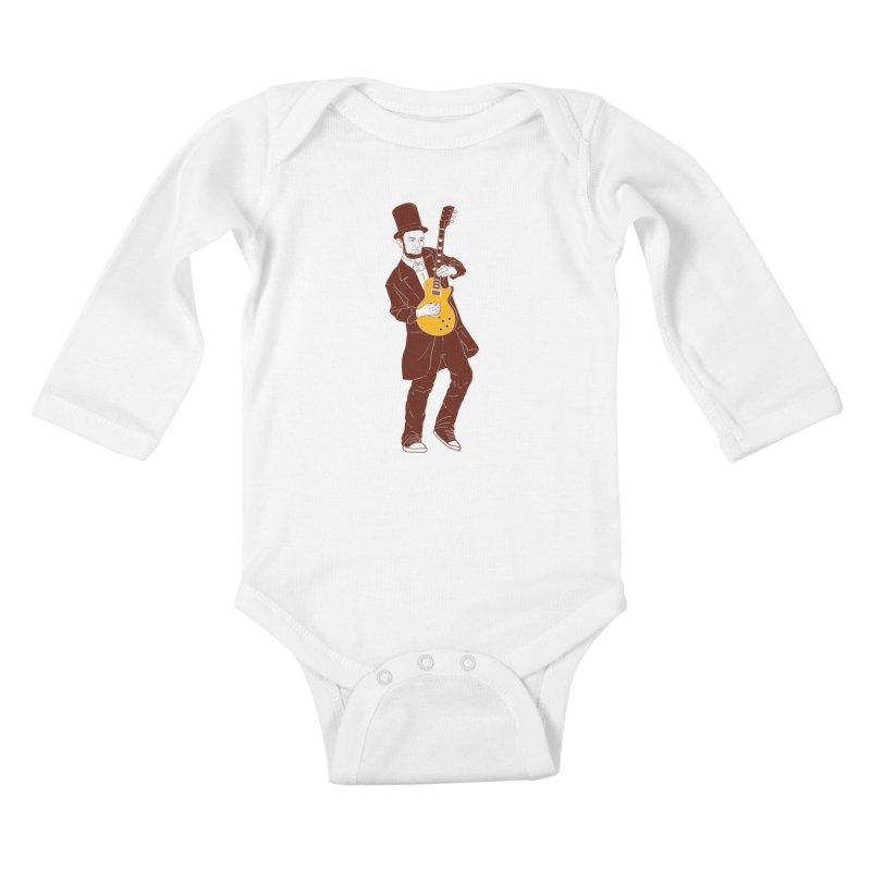 abraham slash Kids Baby Longsleeve Bodysuit by hd's Artist Shop
