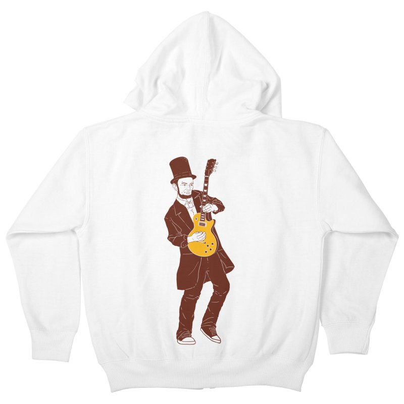 abraham slash Kids Zip-Up Hoody by hd's Artist Shop