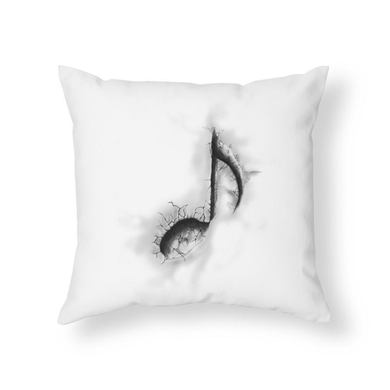noted Home Throw Pillow by hd's Artist Shop