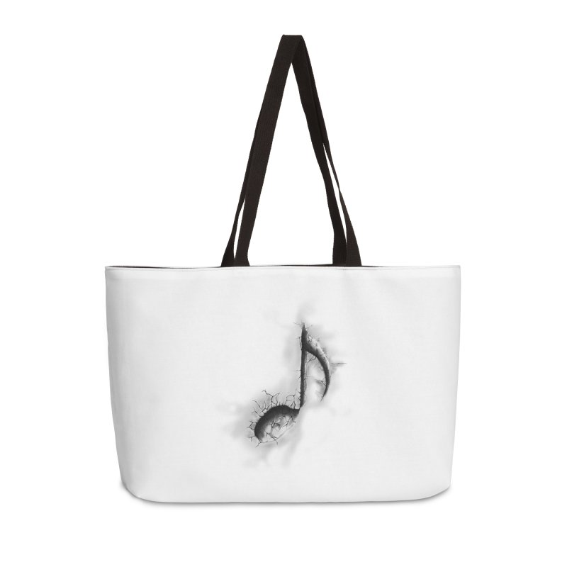 noted Accessories Weekender Bag Bag by hd's Artist Shop