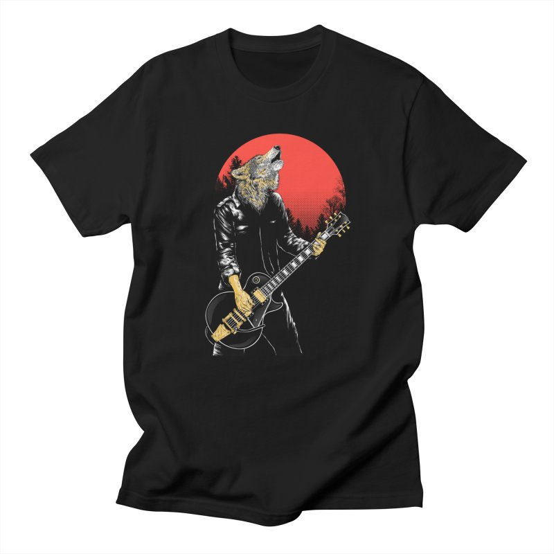 wolf band Men's T-Shirt by hd's Artist Shop