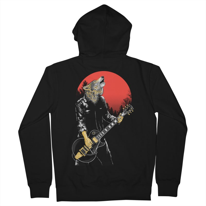 wolf band Women's Zip-Up Hoody by hd's Artist Shop