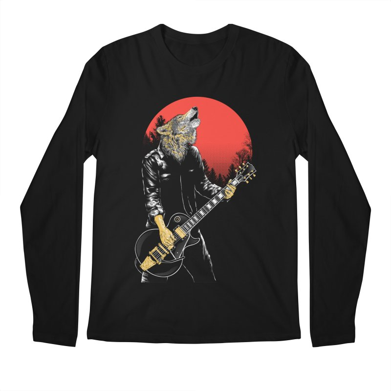 wolf band Men's Regular Longsleeve T-Shirt by hd's Artist Shop