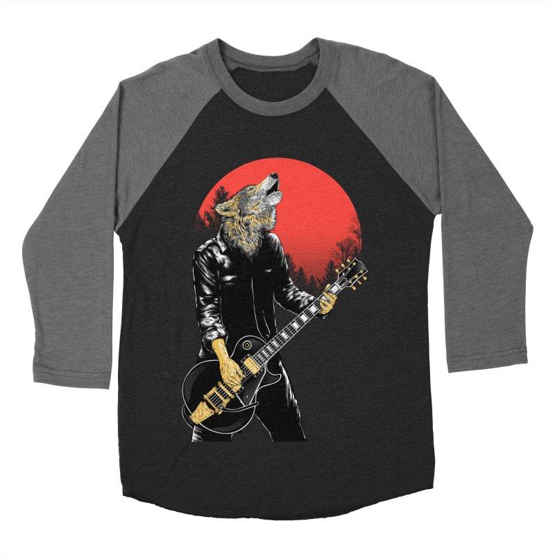 wolf band Men's Baseball Triblend T-Shirt by hd's Artist Shop