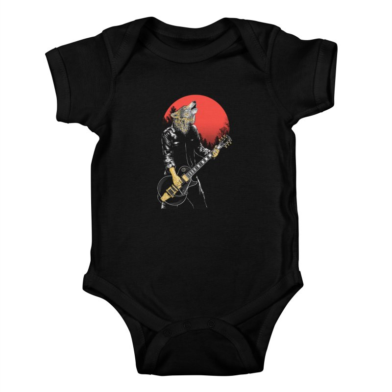 wolf band Kids Baby Bodysuit by hd's Artist Shop