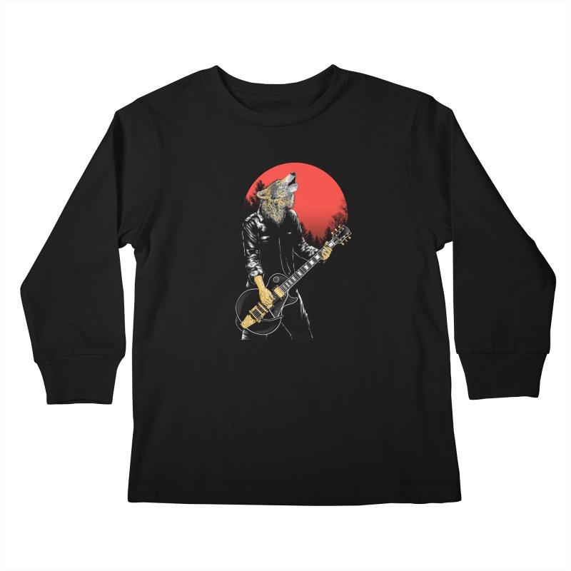 wolf band Kids Longsleeve T-Shirt by hd's Artist Shop