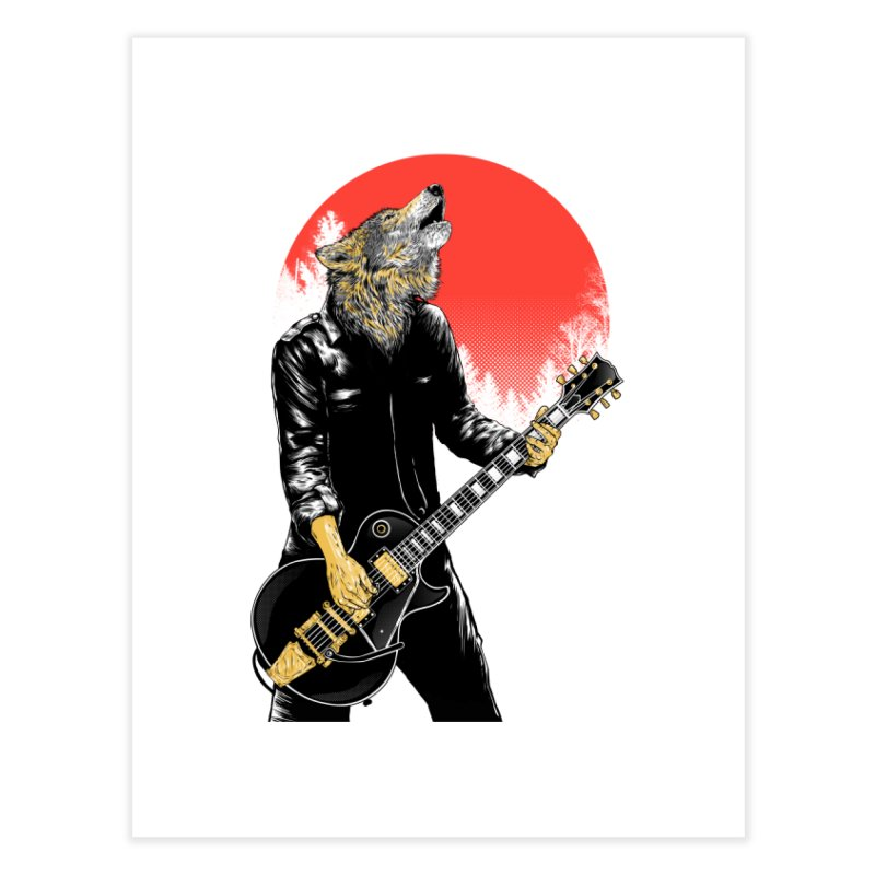 wolf band Home Fine Art Print by hd's Artist Shop