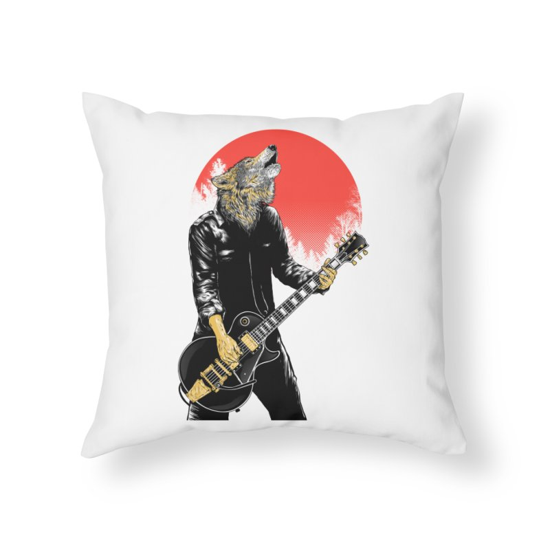 wolf band Home Throw Pillow by hd's Artist Shop