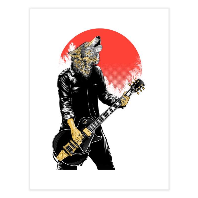 wolf band Home Fine Art Print by hd's Artist Shop
