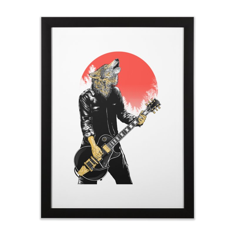 wolf band Home Framed Fine Art Print by hd's Artist Shop