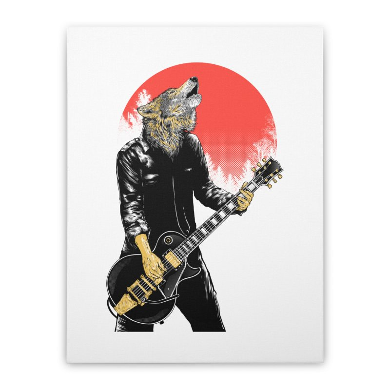 wolf band Home Stretched Canvas by hd's Artist Shop