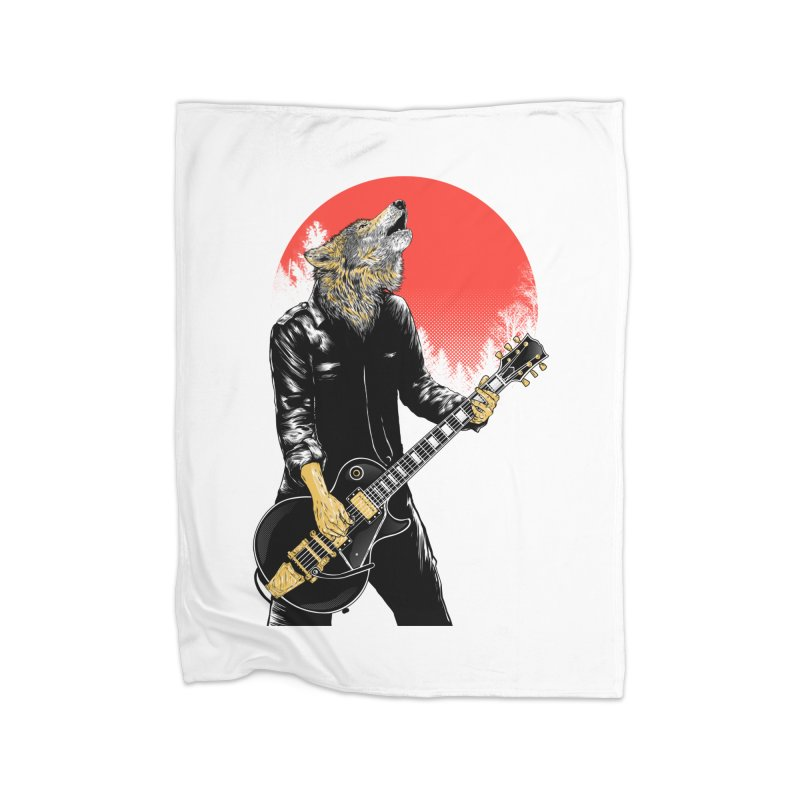 wolf band Home Blanket by hd's Artist Shop