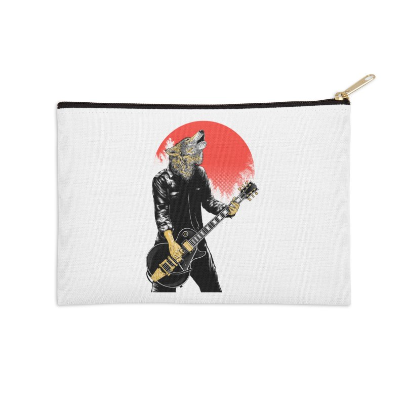 wolf band Accessories Zip Pouch by hd's Artist Shop