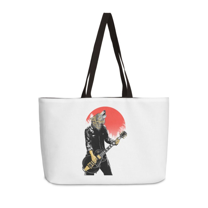 wolf band Accessories Weekender Bag Bag by hd's Artist Shop