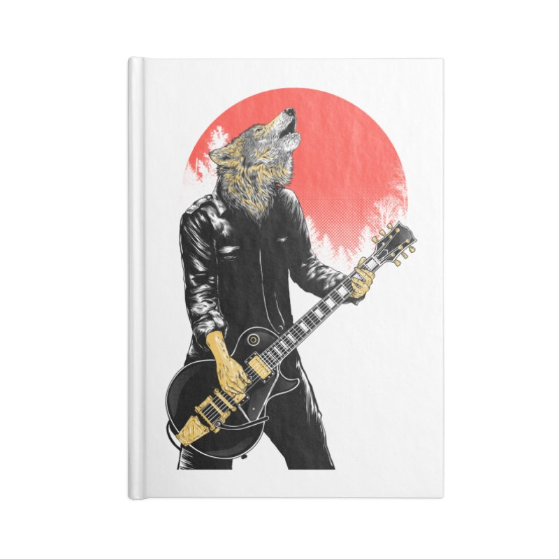 wolf band Accessories Blank Journal Notebook by hd's Artist Shop