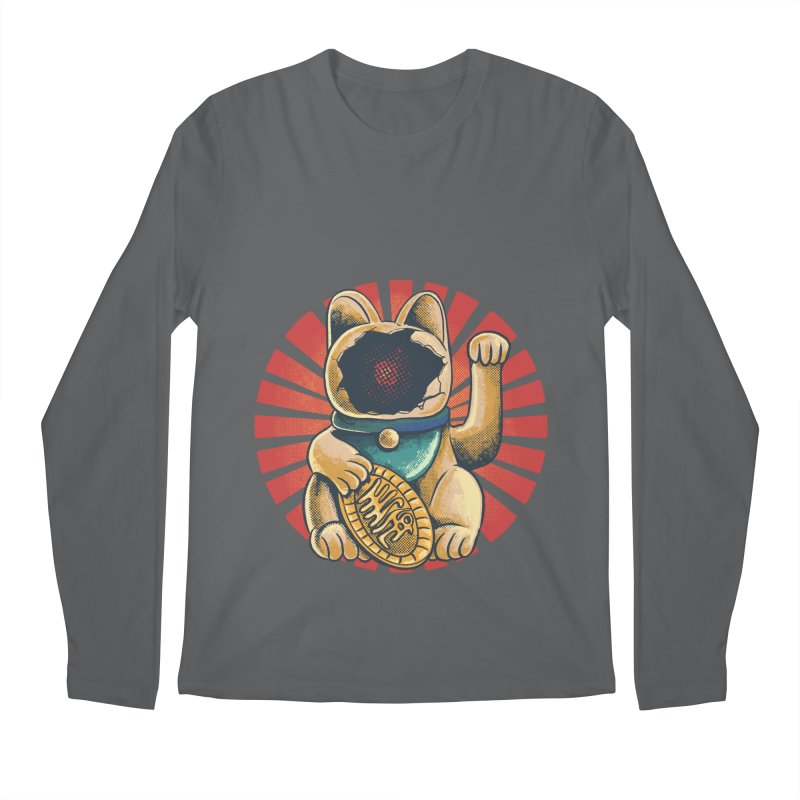 maneko neki broken cat Men's Longsleeve T-Shirt by hd's Artist Shop