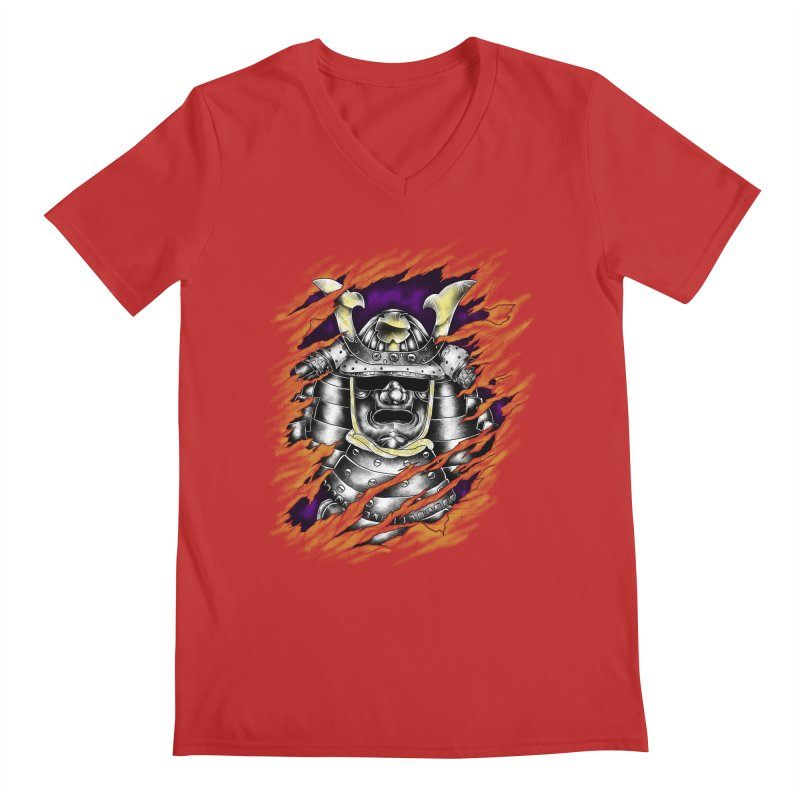 samurai Men's V-Neck by hd's Artist Shop